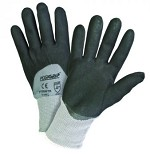 West Chester 715SNFTK-2X Microfoam Nitrile 3/4 Dip Gloves- Black/Gray